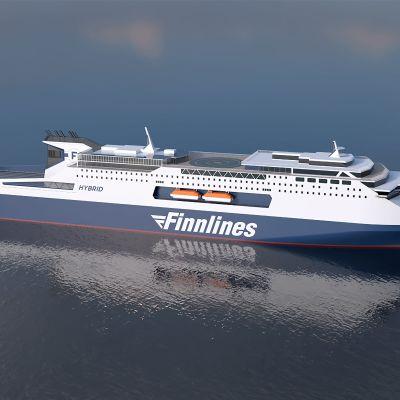 Finnlinesin uusi rahtialus on rakenteilla Kiinassa.