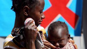 Mor och barn i Sydafrika