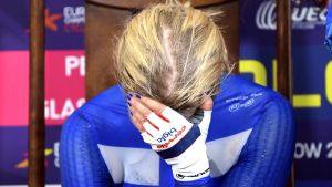 Lotta Lepistö var besviken efter EM-tempoloppet i Glasgow.