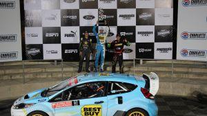 Marcus Grönholm vann sin första rallycrosstävling i USA