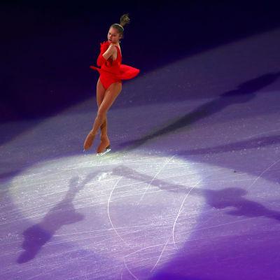 Julia Lipnitskaya åker gala vid OS i Sotji 2014.
