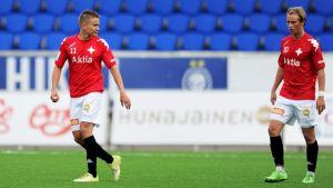 Eero Peltonen och Fredrik Lassas planerar stordåd.