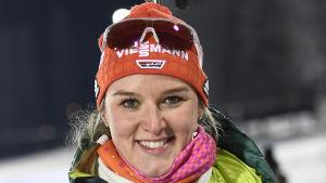 Denise Herrmann efter prisutdelningen i Östersund.