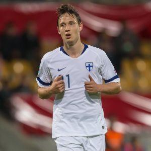 Lassi Lappalainen spelade EM-kval mot Liechtenstein i juni.