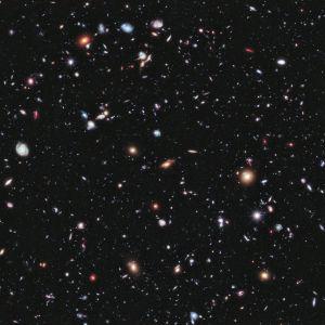 Hubble Ultra Deep Field, en berömd bild tagen med Hubble-teleskopet.