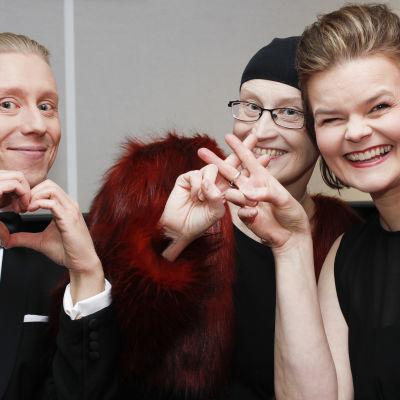 Nicke Aldén, Johanna Grönqvist och Silja Sahlgren-Fodstad