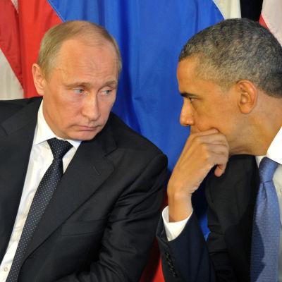 Valdimir Putin och Barack Obama under ett G20-möte i juni 2012.