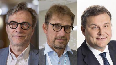 Tre män.
