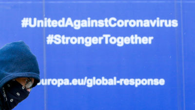 En EU-ledd global videokonferens samlade in 7,4 miljarder euro för utveckling av ett gemensamt coronavaccin.
