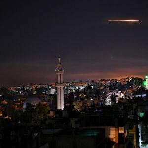 Israelin ohjusisku Syyriaan aamuyöllä 20. marraskuuta 2019.