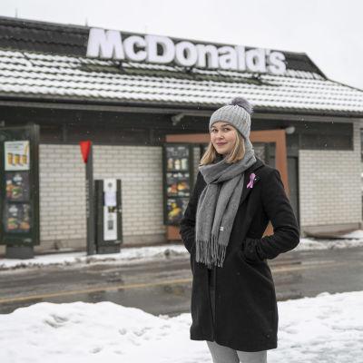 Ella Pullinen Hämeenlinnassa.
