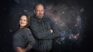 Kvanthopps Ulrica Fagerström och Marcus Rosenlund.