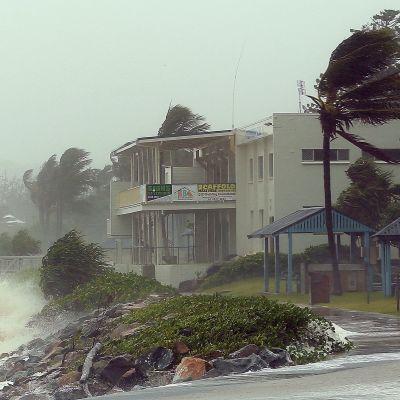 Cyklonen Marcia drog in över Queensland den 20 februari 2015.