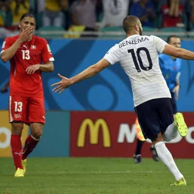 Benzema fick fira även mot Schweiz.