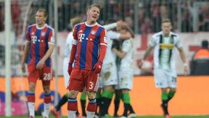 Bastian Schweinsteiger och Bayern föll hemma.