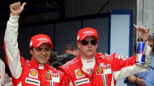 Felipe Massa och Kimi Räikkönen, 2008