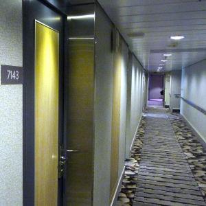 Korridor på Viking Grace.