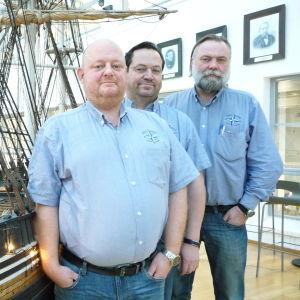 Tony Karlsson, Robert Stolpe och Petteri Niittymäki vid Aboa Mare.