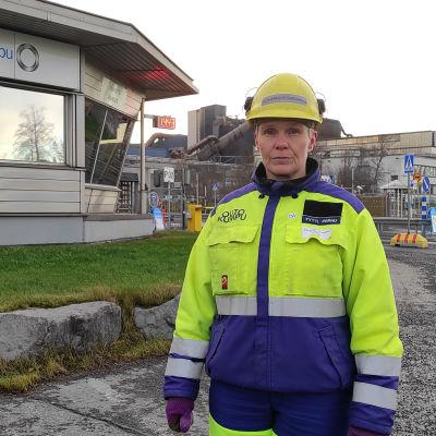 Outokummun Tornion tehtaiden pääluottamusmies Tytti Pernu.