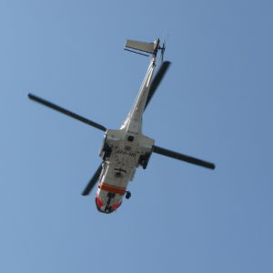 Gränsbevakningens räddningshelikopter Super Puma.
