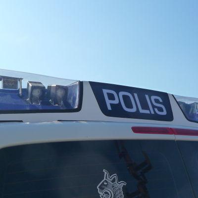 Polisbil i Vasa.