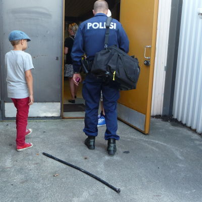 Polisen utreder ett inbrott