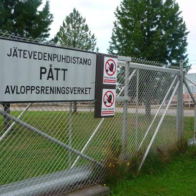 Påttska reningsverket på Brändö i Vasa.