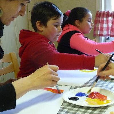 Konst för välmående-kurs i Kristinestad