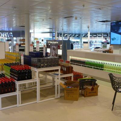 Tax free butik på Sverigebåt