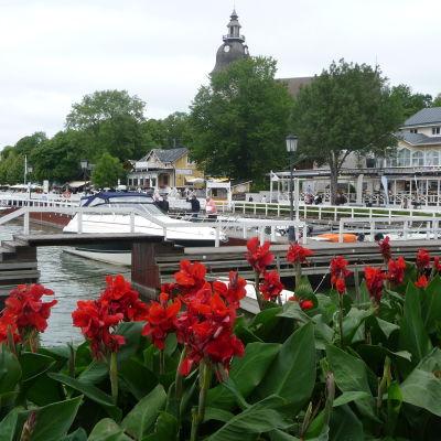 Bild på gästhamnen i Nådendal