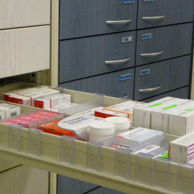 Läkemedelsförpackningar.
