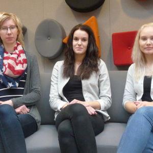 Jasmine Ylsöbäck, Linda Teir och Jannike Kuuttinen.