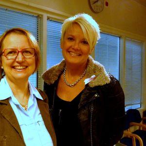 Jane Trygg-Kaipiainen (Järkiliitto - Det är vi) och Pernilla Vikström (SFP)