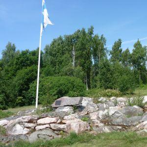 Resterna av det som en gång var Skinnarviks herrgård.