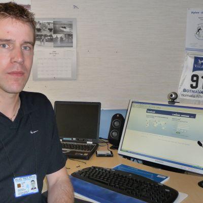 Mikael Appel är informatör på Österbottens polisinrättning.