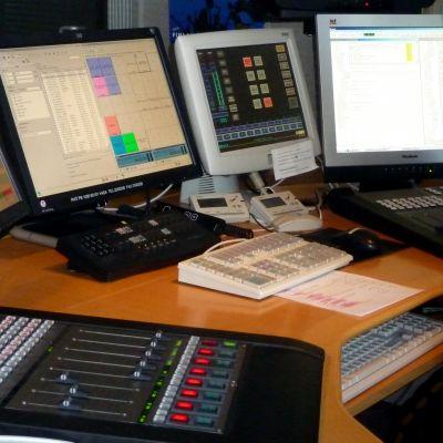 Sändningsteknik i en radiostudio