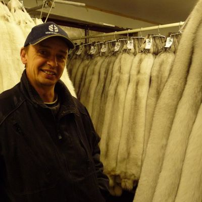 Greger Spik, rävfarmare i Kronoby