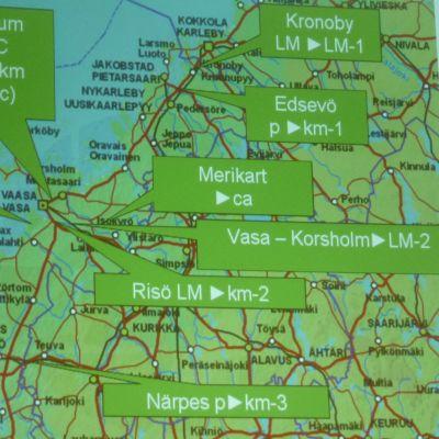 Österbottens förbunds förslag till etapplan.