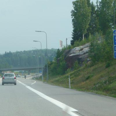 riksväg 7 vid avtaget till gammelby