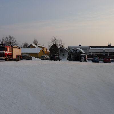 Hotell Logens parkeringsplats i Närpes