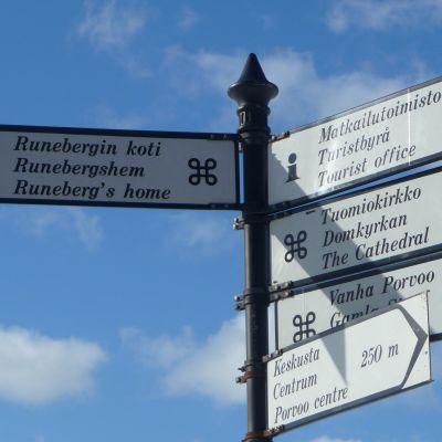 skyltar för turister i Borgå
