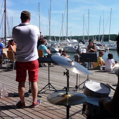 Korpo Sea Jazz vid gästhamnen i Korpoström