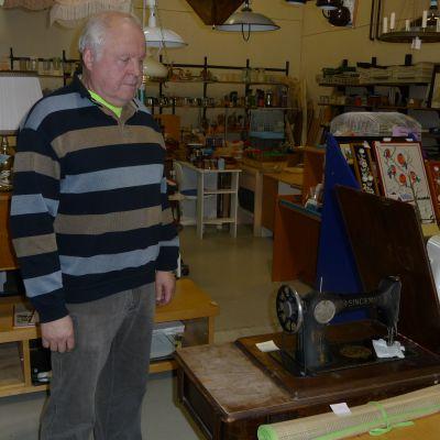 Jan Egon Aaltonen vid Ekomarket i Pargas