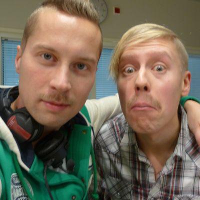 Magnus Hansén och Nicke Aldén odlade mustasch