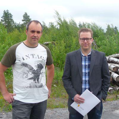 Johan Lax och Matias Båsk