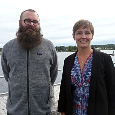 Projektledarna Sven Söderholm i Jakobstad och Mila Segervall i Kristinestad.