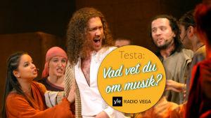 Musikalen Jesus Christ Superstar i Brno, Tjeckien. Robert Jícha som Jesus.