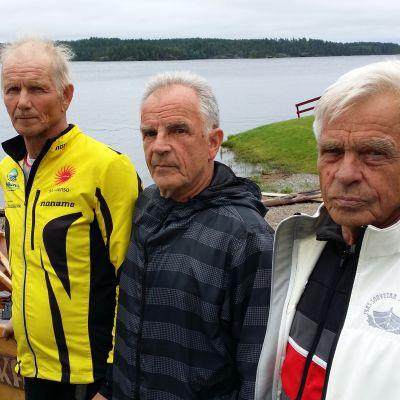 Hannu Pasanen, Raimo Virta ja Risto Virta ovat olleet mukana soutujen alusta lähtien.