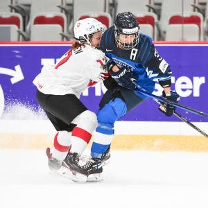 Michelle Karvinen spelar i Finlands landslag.