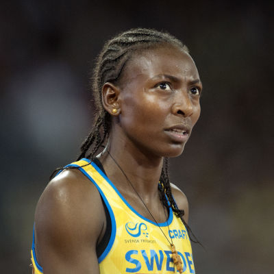 Abeba Aregawi i närbild.